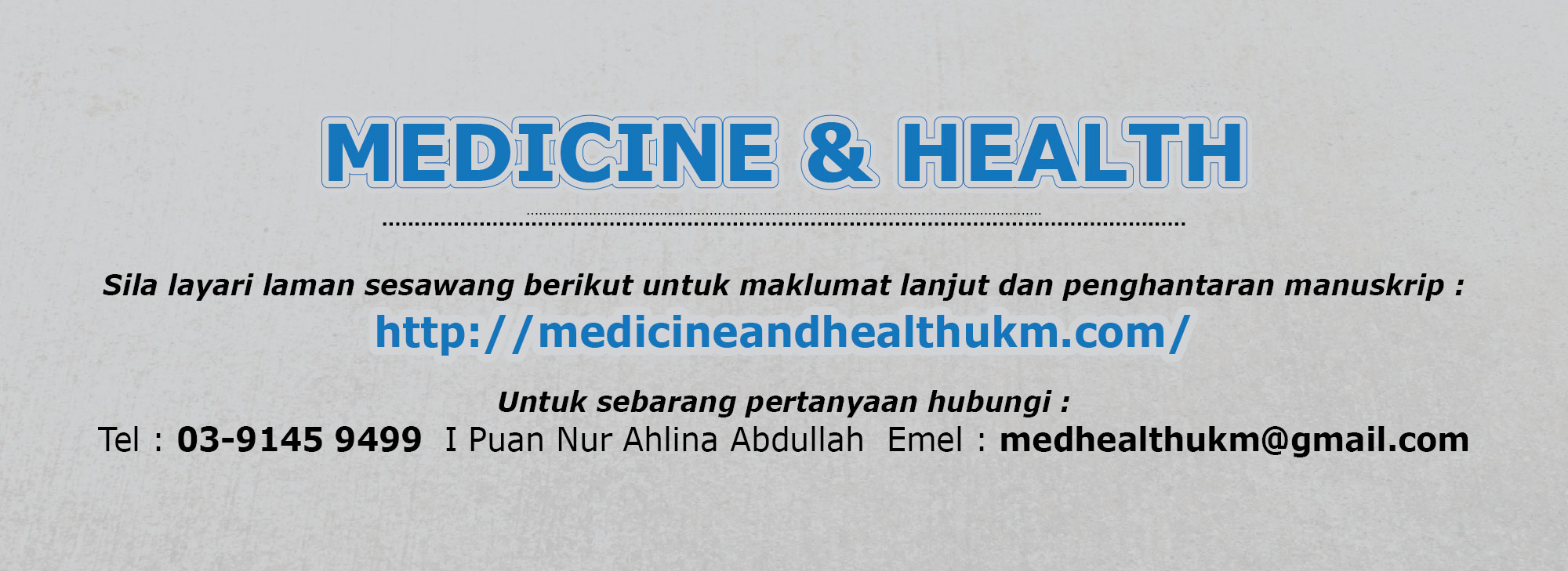 Medicine and Health 2016